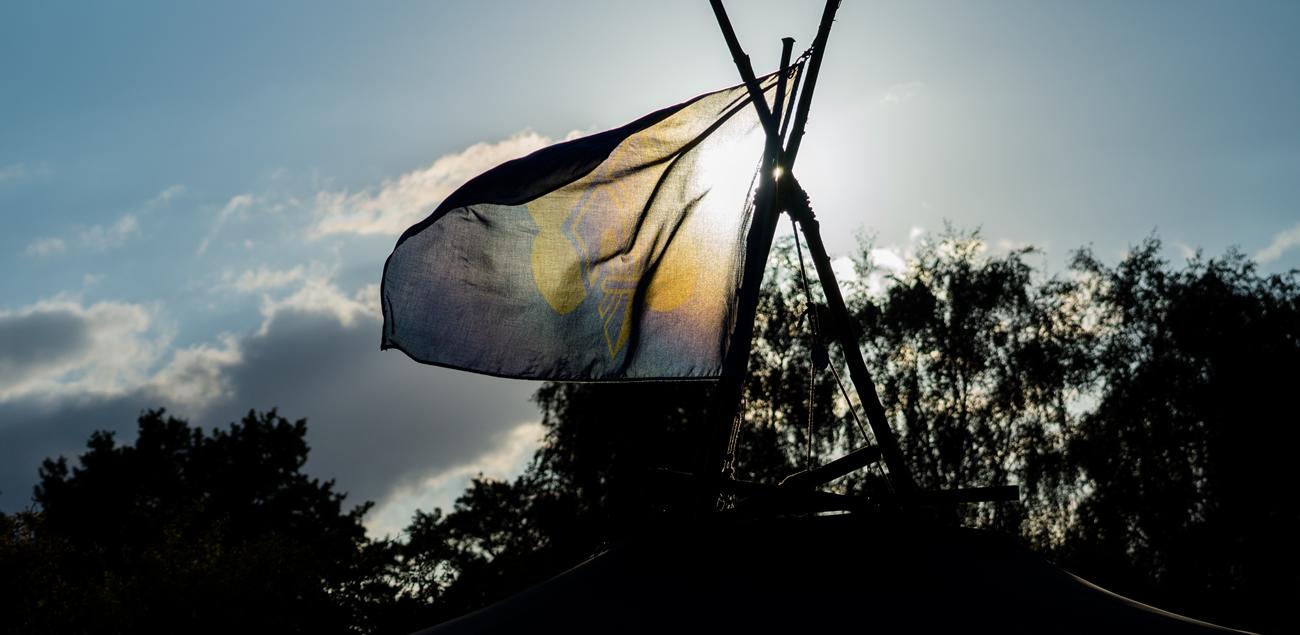 BdP-Fahne flattert im Wind