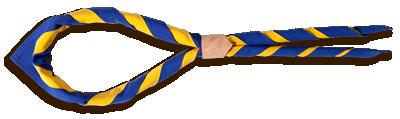 Ein Pfadfinder-Halstuch mit Halstuch-Knoten