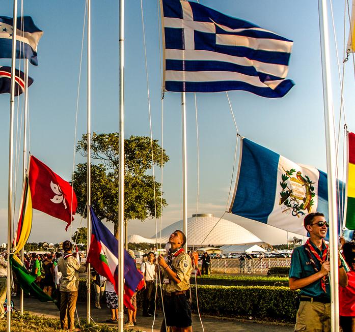 Zahlreich präsentieren sich die vertretenen Nationen auf dem Jamboree, dem Weltpfadfindertreffen