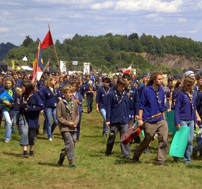 Zwischen 4.000 und 6.000 Pfadfinderinnen und Pfadfinder nehmen an einem Bundeslager teil