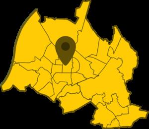 Kartenansicht von Karlsruhe mit Hervorhebung des Standortes unserer Gruppenräume